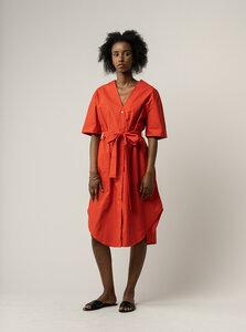 Damen Midi-Blusenkleid KAREENA - Fairtrade Cotton & GOTS zertifiziert - MELAWEAR