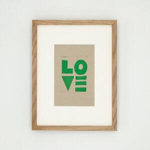 Love II – Kunstdruck mit Echtholzrahmen - Ballenito