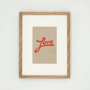 Love I – Kunstdruck mit Echtholzrahmen - Ballenito