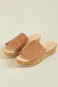 Block Sandale aus vegetabil gegerbtem Leder - LANIUS