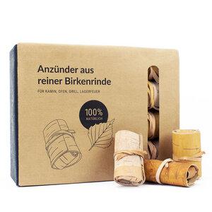 Anzünder für Grill und Kamin aus 100% Birkenrinde ohne Zusatzstoffe - 24 Stück - MOYA Birch Bark