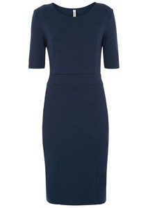Constance Fitted Dress Navy - People Tree