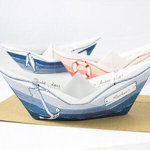 Grußboote 3er Set mit Umschlägen - Bow & Hummingbird
