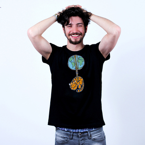 Seidener Faden Tiger - Bio-Shirt Männer mit Print - Coromandel