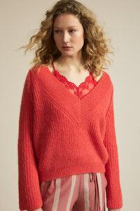 Pullover mit V-Ausschnitt aus Alpakawolle - LANIUS