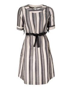 Streifen-Kleid aus Leinen und Tencel 'Shadow Dress' - Alma & Lovis