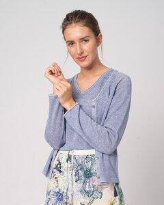 Strickjacke aus Bio-Baumwolle und Leinen 'Cot-Lin Jacket' - Alma & Lovis