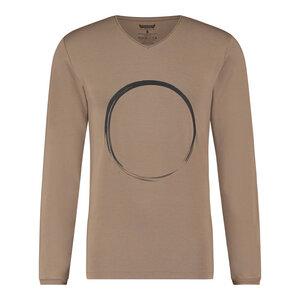 Herren Langarm Shirt Rudra mit Zen Print – Bambus und Bio-Baumwolle - Renegade Guru