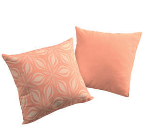 Kissenhüllen Retro Flore 2 Stück tolles Design 100 % Bio Baumwolle tolle Farben und Größe - Adam -Natürlich Wohnen