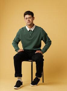 Herren Rugby-Sweatshirt RAJU - Nachhaltig mit Fairtrade Cotton & GOTS zertifiziert - MELAWEAR