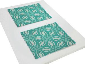 Tischsets Retro Flore 2 Stück tolles Design 100 % Bio Baumwolle tolle Farben und Größe - Adam -Natürlich Wohnen