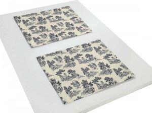 Tischsets Good Old Days 2 Stück tolles Design 100 % Bio Baumwolle tolle Farben - Adam -Natürlich Wohnen