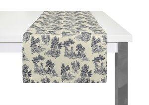 Tischläufer Good Old Days 2 Stück tolles Design 100 % Bio Baumwolle tolle Farben - Adam -Natürlich Wohnen