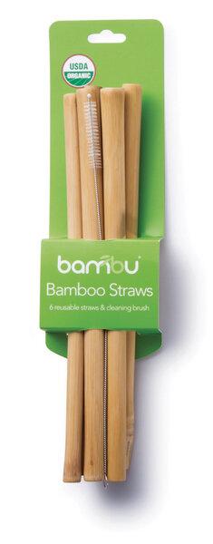 Bambu Bambus Strohhalm 6 Set Mit Reinigungsburste Avocadostore