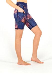 Biker Shorts NIGHT ON BALI mit drei Eingrifftaschen - Yoga Hero