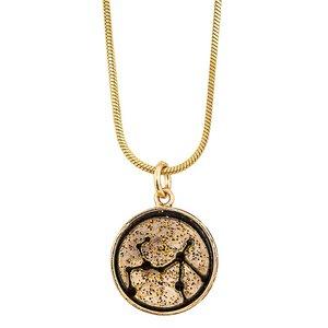 Zodiac Sternzeichen umweltfreundliche vergoldete Halskette aus recyceltem Holz - Paguro Upcycle