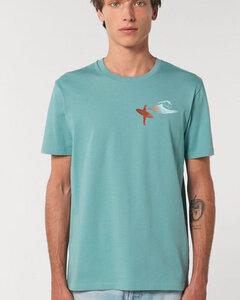 Reine Biobaumwolle klassisches Shirt flauschig /Surfing - Kultgut