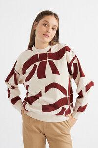 Pullover aus Bio Baumwolle - Zabawa Sweatshirt Raspberry - Rot - thinking mu
