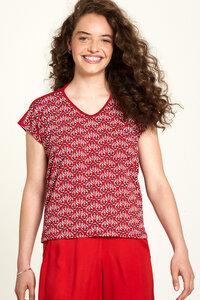 Jersey Shirt aus Bio-Baumwolle mit Print in Rot - TRANQUILLO