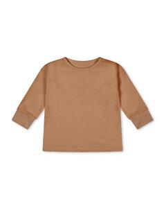 Langarm Shirt für Kinder / Basic Longsleeve aus pflanzengefärbter Biobaumwolle - Matona
