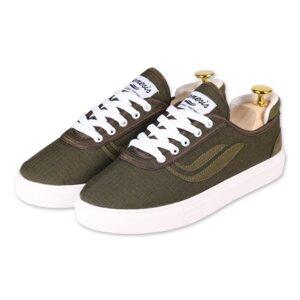 Veganer Sneaker G-Daily Upcycled (olive) - Genesis Footwear