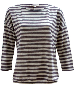 Linen Pure Shirt Ringel anthra - Alma & Lovis