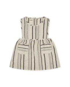 Latzkleid aus Leinen für Kinder / Nora Pinafore Dress - Matona