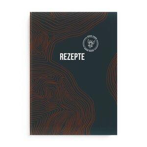 Din A4 Großes Rezeptbuch 'Woody' zum Selberschreiben mit Verzeichnis für bis zu 80 Lieblingsrezepte - heaven+paper