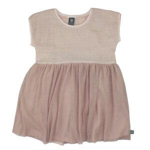 Kleidchen aus Bio Baumwoll Musselin - mint - rose - Pünktchen Komma Strich