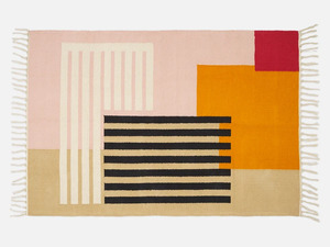 Baumwoll-Teppich mit geometrischem Muster - FOLKDAYS
