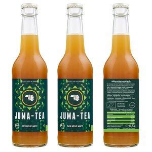 DAS NEUE WACH 12 x 0,33l Bio Energie-Tee mit Fruchtsaft und Quellkohlensäure von JUMA-TEA (ohne Zuckerzusatz) - JUMA-TEA