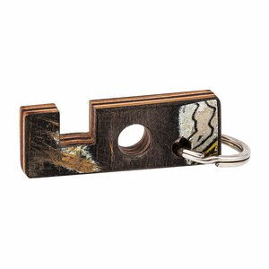 3-1 Smartphone Ständer, Kopfhörerhalter & Schlüsselring aus recycelten Skateboards - Paguro Upcycle