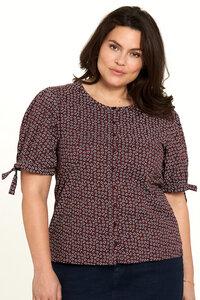 Baumwoll Shirt mit Print in Braun und Grün - TRANQUILLO