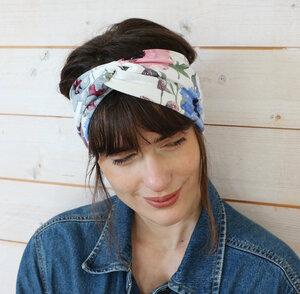 Veganes denkefair Stirnband Blumen JERSEY - denkefair
