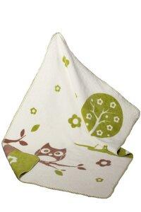 Baby Decke Einstein natur/grün/braun 75*100 Bio Baumwolle - Richter Textilien