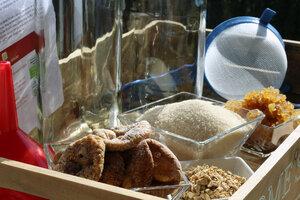Ginger Root Getränk Komplettset mit echten aktiven Kefirkristallen  - Natural-Kefir-Drinks