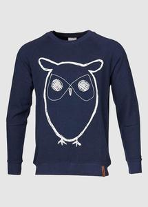 Sweat Shirt With Owl Print - KnowledgeCotton Apparel
