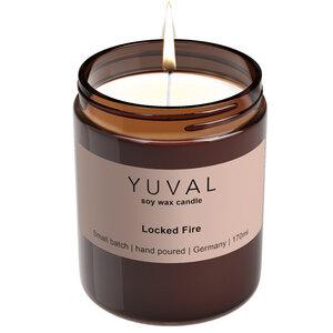 YUVAL Vegane Duftkerze im Glas mit verbranntem Holz und orientalischen Gewürzen (Locked Fire) - YUVAL