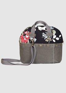 Zuerich Handbag Flowers Dark - Globe Hope