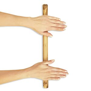 Universeller Holzstab Teigroller aus Olivenholz von NATUREHOME 42 x 4 cm /42 x 2,5 cm - NATUREHOME
