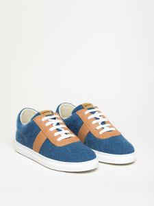 Magicfelt moderner Wool Walker mit Lederbesatz Sneaker aus Schurwolle - Gottstein Österreich-Marke Magicfelt