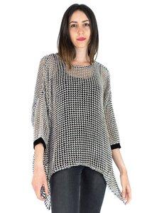 Durchbrochener Pullover PONCHO A CALADO Bio-Baumwolle 90% / Viskose 10% - MAGAN