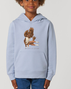 Flauschiger Kinderhoodie /Animals are friends - The flying dog - Kultgut