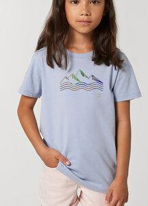 Reine Biobaumwolle weiches Shirt / acqua e montagne - Kultgut