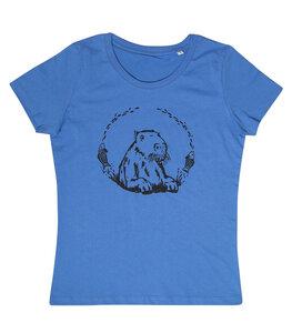 Wanda Wasserschwein - Fair Wear Frauen Bio T-Shirt - BrightBlue - päfjes