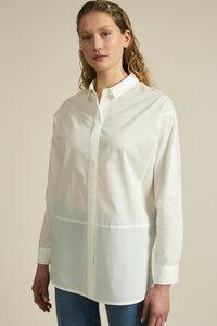 Lange Bluse aus Bio-Baumwolle weiß - LANIUS