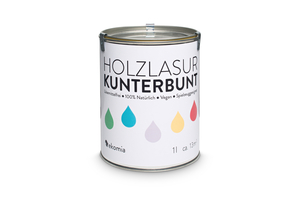 Holzlasur Kunterbunt 1l (weiß) - ekomia