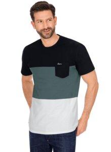Dreifarbiges T-Shirt aus Baumwolle - Trigema