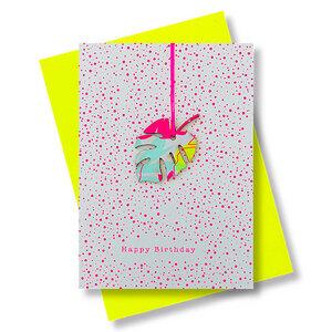 Briefkarte Happy Birthday - Pink Stories