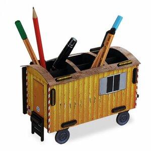 Stiftebox Aufbewahrungsbox Stiftehalter Schreibtisch Organizer - Baustelle Holz - Werkhaus GmbH